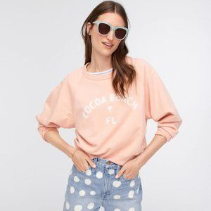 J.CREW Flirty Peach Cocoa Beach Sweatshirt